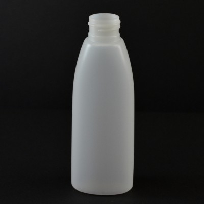 4 oz 24/410 Teardrop Oval Natural HDPE Bottle