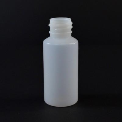 1 OZ 20/410 Cylinder Round Natural HDPE Bottle - 1900/case