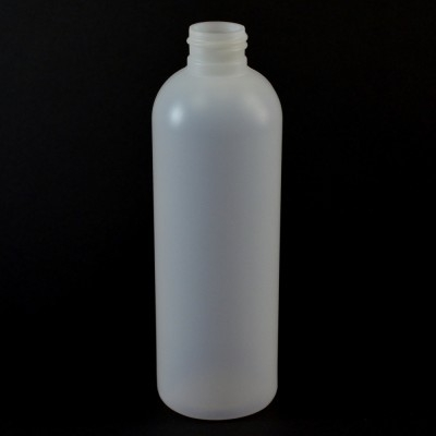 8 OZ 24/410 Royalty Round Natural HDPE Bottle - 500/case