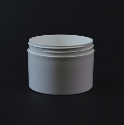 8 oz 89/400 White Thick Wall Straight Base PP Jar
