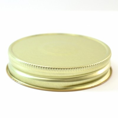 70G-450 Gold-Buff with Button Metal Cap with Plastisol Liner