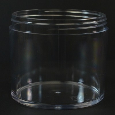 8 oz 100/400 Heavy Wall Low Profile Clear PETG Jar