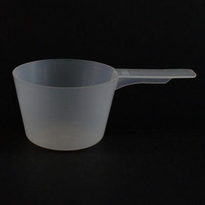 50 cc Plastic Measuring Scoop Natural Short Handle 3.553 X 2.053 X 1.368