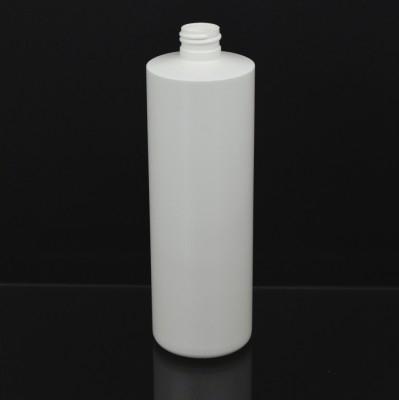 16 OZ 24/410 Cylinder Round White HDPE Bottle  - 240/case