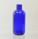 4 oz Boston Round 24/400 Cobalt Glass Bottle