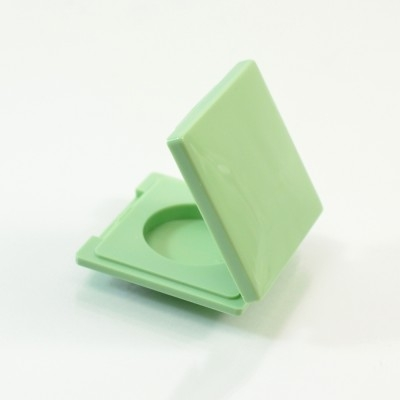 Compact Square LH Small Round PP Pale Green with Mirror Pinned-Hinge 1.795