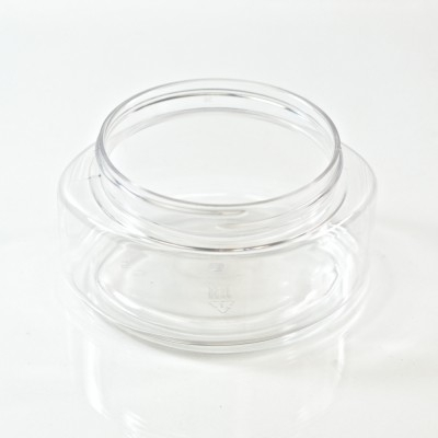 6 oz 70/400 Palermo Oval Clear PET Jar