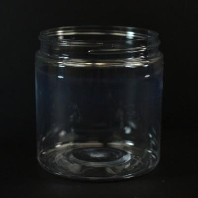 8 oz 70/400 Wide Mouth Clear PET Jar