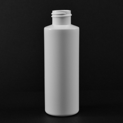 4 oz 24/410 Cylinder Round White HDPE Bottle