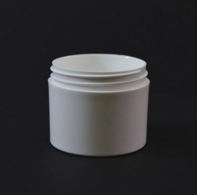 3 OZ 58/400 Thick Wall Straight Base White PP Jar - 396/Case