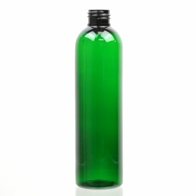 8 oz 24/410 Cosmo Round Emerald PET Bottle