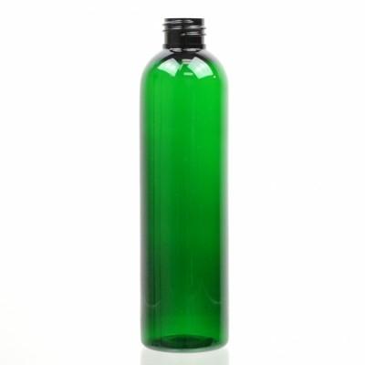 8 oz 24/410 Cosmo Round Emerald PET Bottle