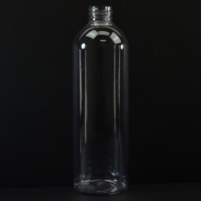 16 oz 24/410 Cosmo Round Clear PET Bottle