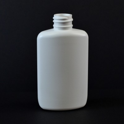 2 oz 20/410 Drug Oval White HDPE Bottle