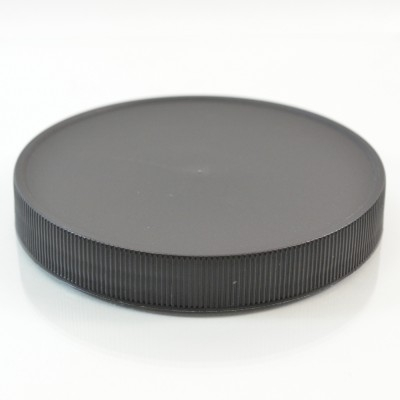 110/400 Black Ribbed Straight PP Cap / PS Liner - 216/Case