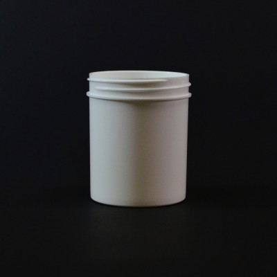 4 oz 58/400 Regular Wall Straight Base White PP Jar