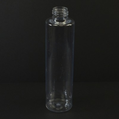 6 oz 24/410 Slim Cylinder Clear PET Bottle