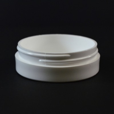 1 OZ 70/400 Thick Wall Straight Base White PP Jar - 420/Case