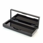 Compact BB Small Rectangular ABS Black with Mirror Pinned-Hinge 3.860