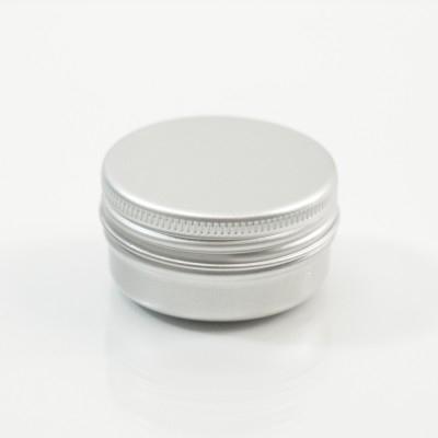 15 ML Aluminum Metal Straight Base Jar