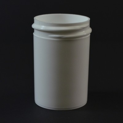 1 oz 38/400 Regular Wall Straight Base White PP Jar
