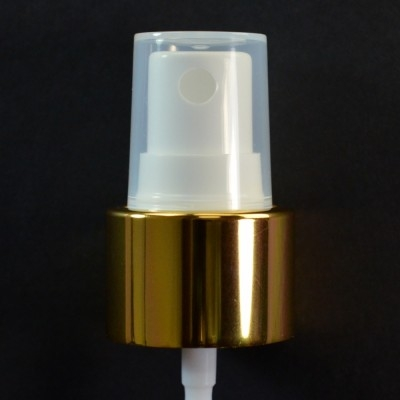 24/410 Fine Mist Sprayer Shiny Gold/White/Clarified Hood