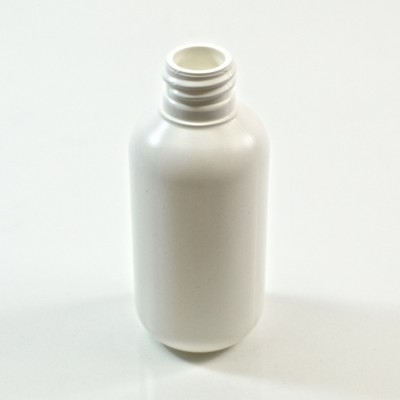 2 oz 20/410 Boston Round White HDPE Bottle