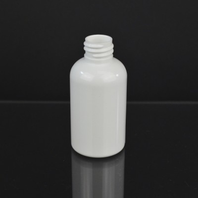 2 oz 20/410 Squat Boston Round White PET Bottle