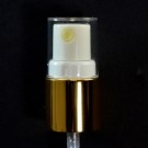 18/415 Fine Mist Sprayer Shiny Gold/White/Clear Hood