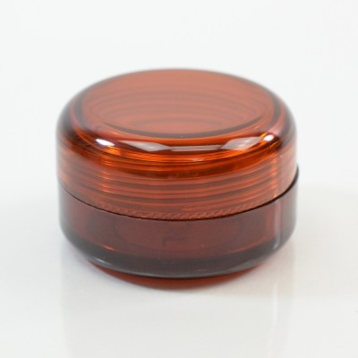 1/2 oz 43MM SP Amber Thick Wall Round Base SAN Jar