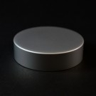 53/400 Matte Silver Metal Overshell Straight Sided Cap Foam Liner - 510/Case