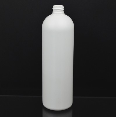 20 oz 24/410 Royalty Round White HDPE Bottle