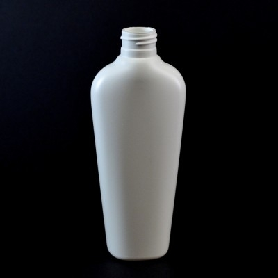 6 oz 20/410 Vail Oval White HDPE Bottle