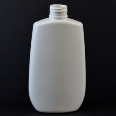 6 oz 24/410 Tapered Oval White HDPE Bottle