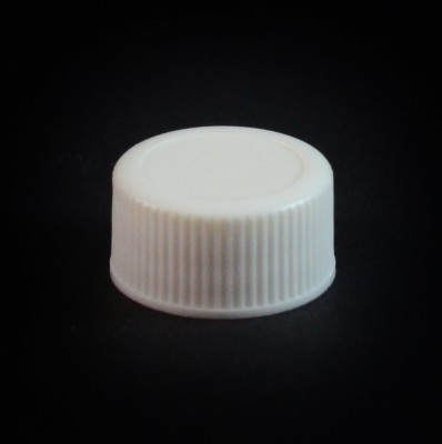 18/400 White Ribbed Straight PP Cap / F217 Liner