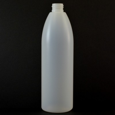 16 oz 24/410 Evolution Round Natural HDPE Bottle