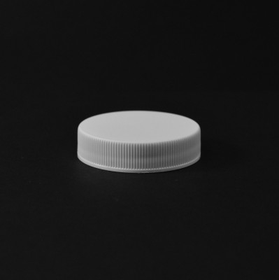45/400 White Ribbed Straight PP Cap / Unlined