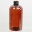 8 oz 24/410 Squat Boston Round Amber PET Bottle
