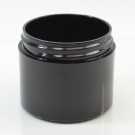 2 OZ 53/400 Thick Wall Straight Base Black PP Jar - 265/Case