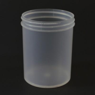 8 oz 70/400 Regular Wall Straight Base Natural PP Jar