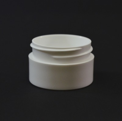 1/2 oz 43/400 White Thick Wall Straight Base PP Jar
