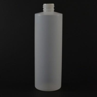 12 oz 24/410 Cylinder Round Natural HDPE Bottle