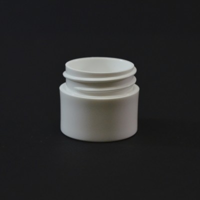 1/4 OZ 33/400 Thick Wall Straight Base White PP Jar - 1638/Case