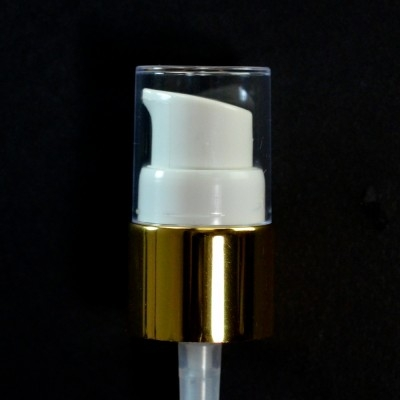 18/410 Treatment Pump Shiny Gold/White/Clear Hood