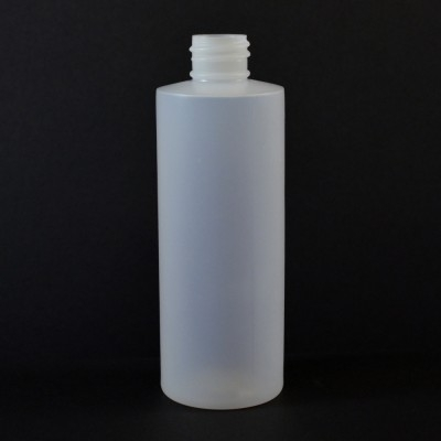 4 oz 20/410 Cylinder Round Natural HDPE Bottle