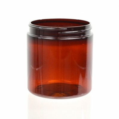 8 oz 70/400 Wide Mouth Amber PET Jar