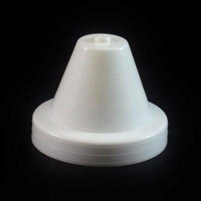 24/410 White Push Pull Crayon Dispensing Symmetrical Cap to 8 oz #218