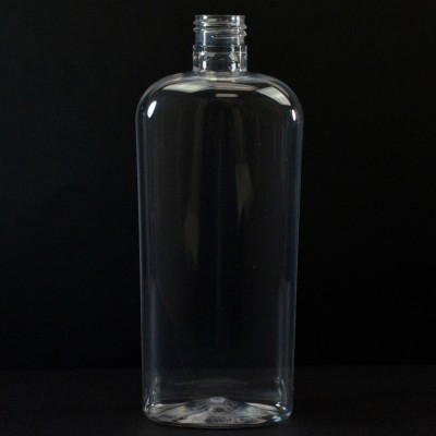 12 oz 24/415 Classic Oval Clear PET Bottle