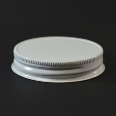 70 G-450 White Metal Cap with Plastisol Liner