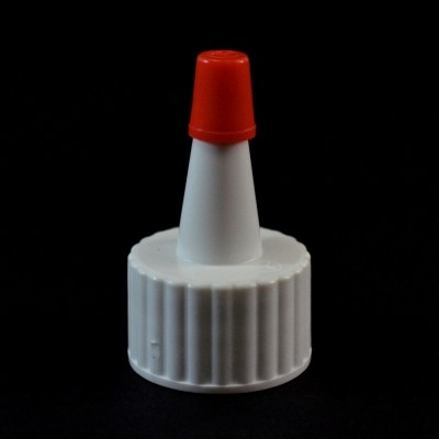 20/410 Ribbed White Yorker Dispensing Cap